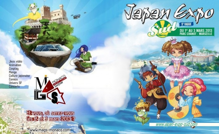 Le premier week-end de Mars, 2 évènements sont en concurrence, la Japan Expo Sud et le Monaco Game Show