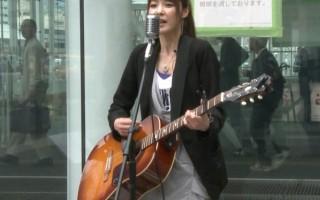 sachiko-oki-kawasaki-station-street-singer-japan